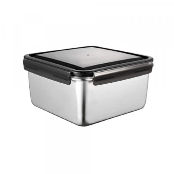 Steel Square Container- 550 ML