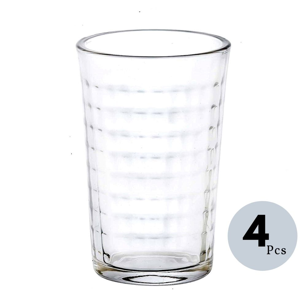 Clear Glass Tumbler 160 ML, Set of 4