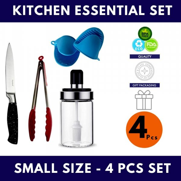 Femora Essential Kitchen Set for Every Day Use - Gift - Medium Size- 13pcs