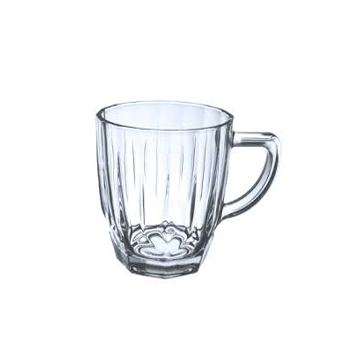 Glass Vintage Tea Mug 190 ML