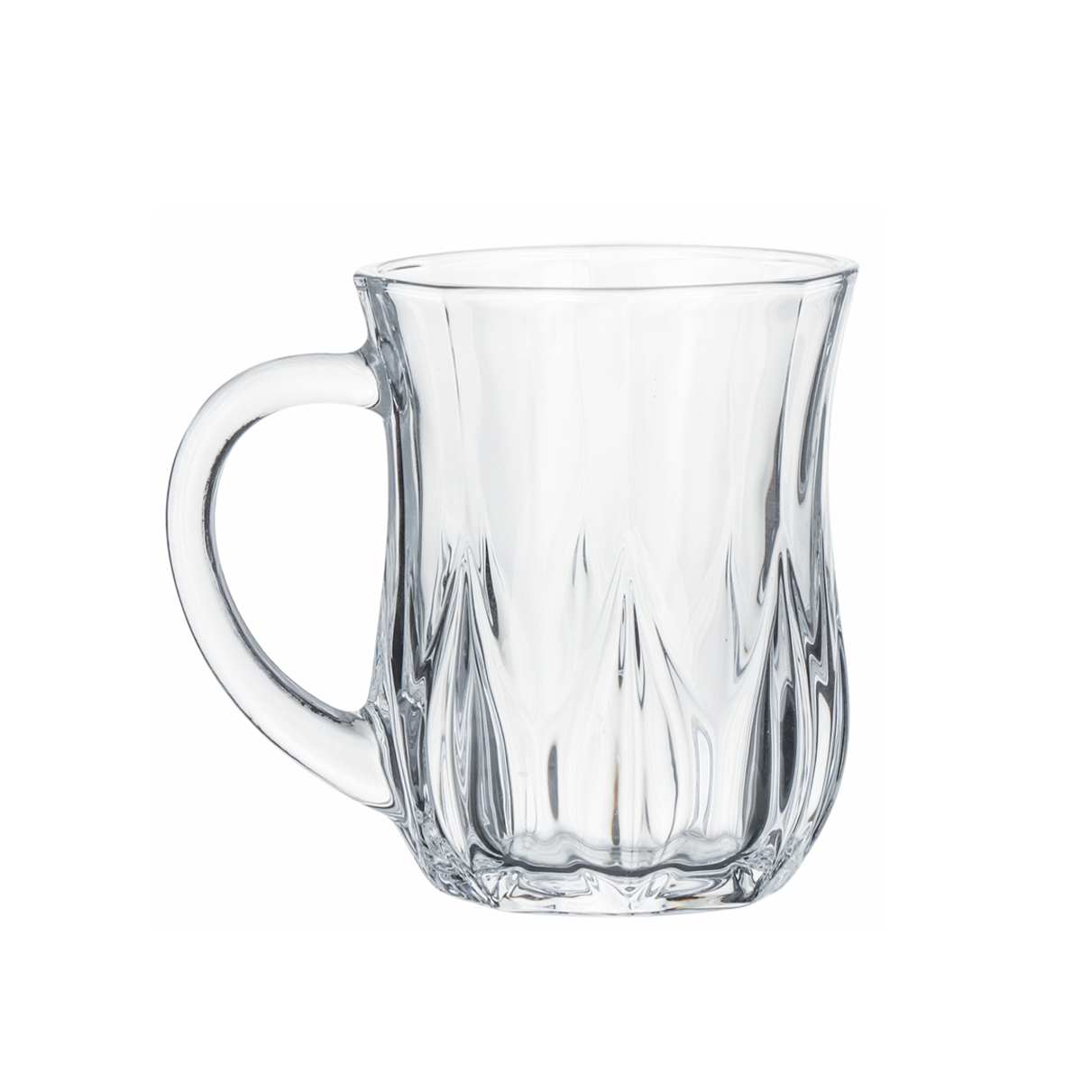 Femora Glass Aqua Tea Mug Coffee Mug - Set of 4-145 ML