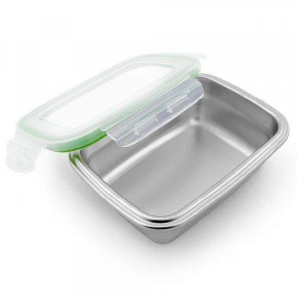 High Steel Rectangle Container with Lock Lid for Kitchen, Storage, Lunch Box - 850ml