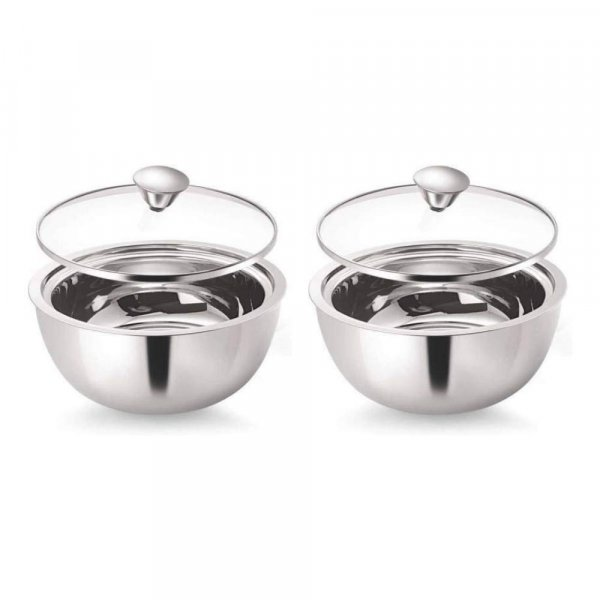 Stainless Steel Curry Server - 1.50 L - Set of 2