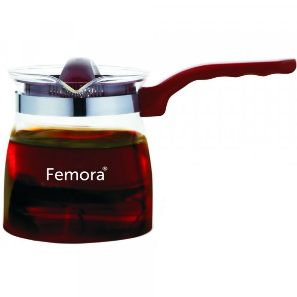 Borosilicate Glass Flame Proof Tea Pot- 700 ML ( Serving 4 cup) set of 2