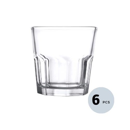 Clear Glass Tumbler - 240 ML, Set of 6