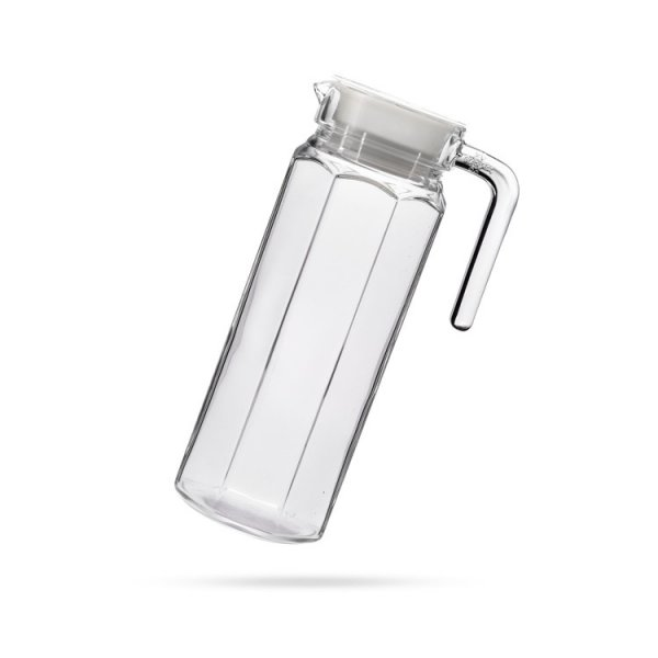 Femora Clear Glass Water Dew Jug for Office & Home - 1 L