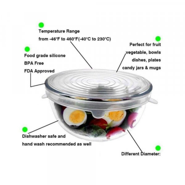 Borosilicate Glass Mixing Bowl with Lid - 1050ML