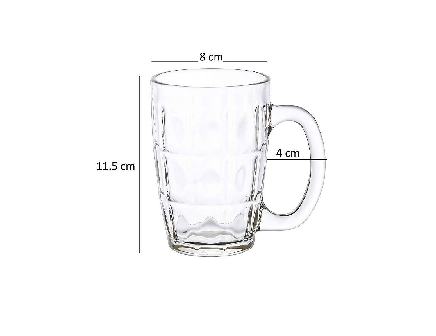Clear Glass Neolo Beer Mug - 300 ML - Set of 3