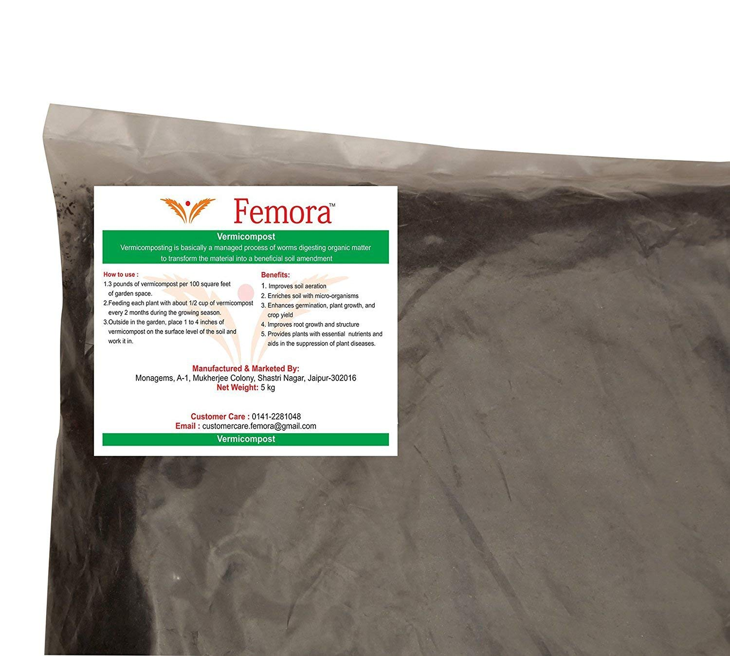 Femora Enriched Organic Vermicompost 1 kg