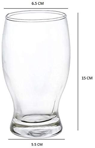 Femora Clear 4 Glass Juice Tumbler - 250 ML