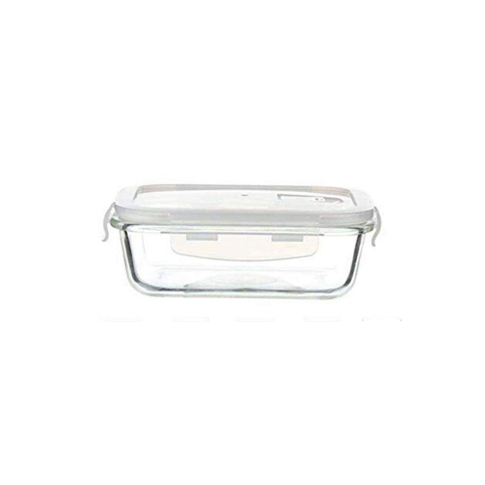 Borosilicate Glass Rectangular Container with Air Vent Lid - 1500 ML