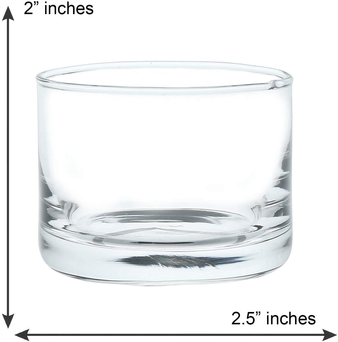 Crystal Clear Glass Mini Small Round Dessert Bowl - 80 ML, Set of 6 (Suitable for Small Dessert)