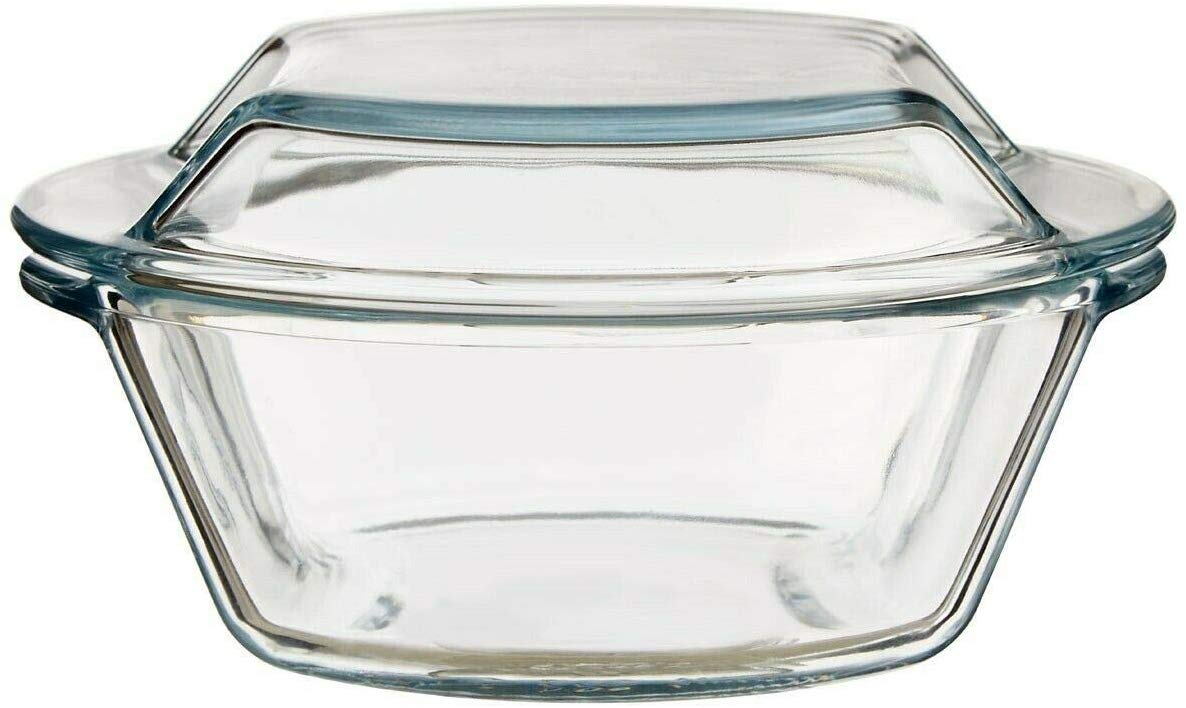 Borosilicate Glass Microwave Safe Casserole - 1000ML, 1500ML, Set of 2