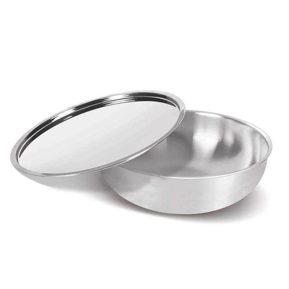 Tri-ply Tasla 24x8cm with Steel Lid Healthy Cooking (Zero Non-Stick Coating)