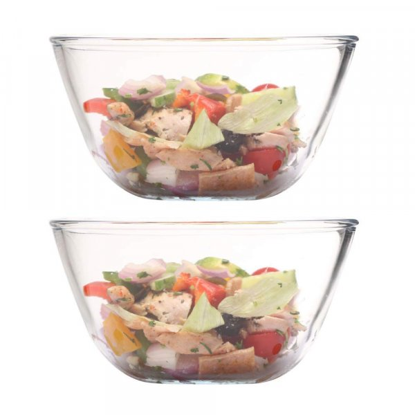 Borosilicate Glass Mixing Bowl 400ml, Set of 2