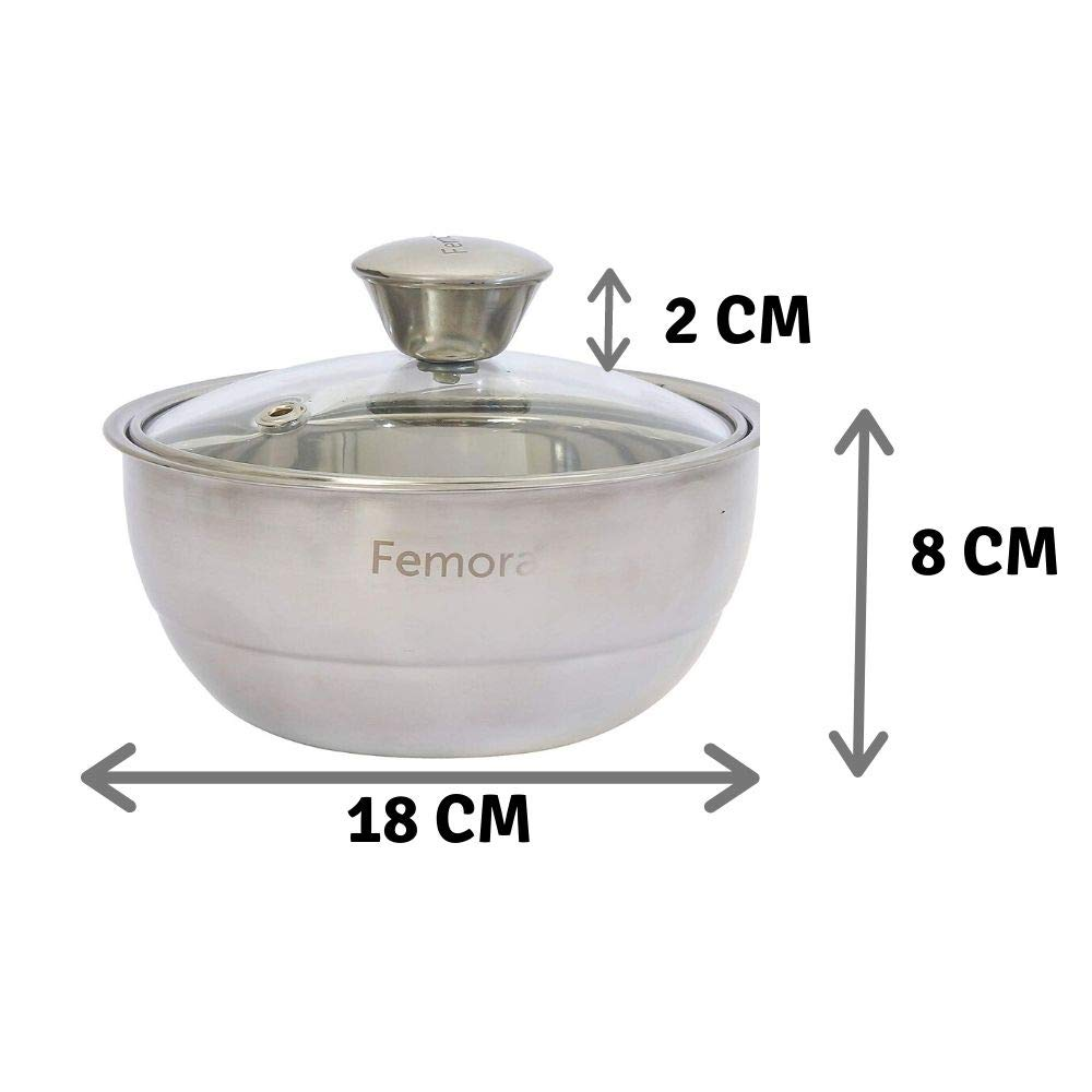 Stainless Steel Curry Server - 900 ML