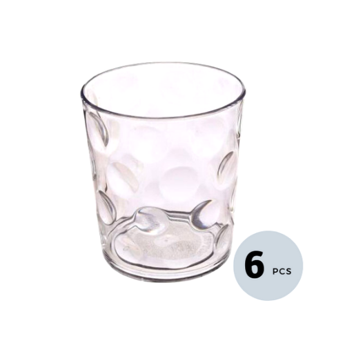 Borosilicate  Glass Tumbler - 240 ML, Set of 6