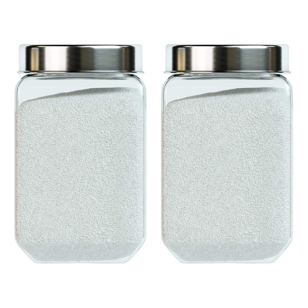 Octo Storage Glass Jar - 1550 ML- Set of 2