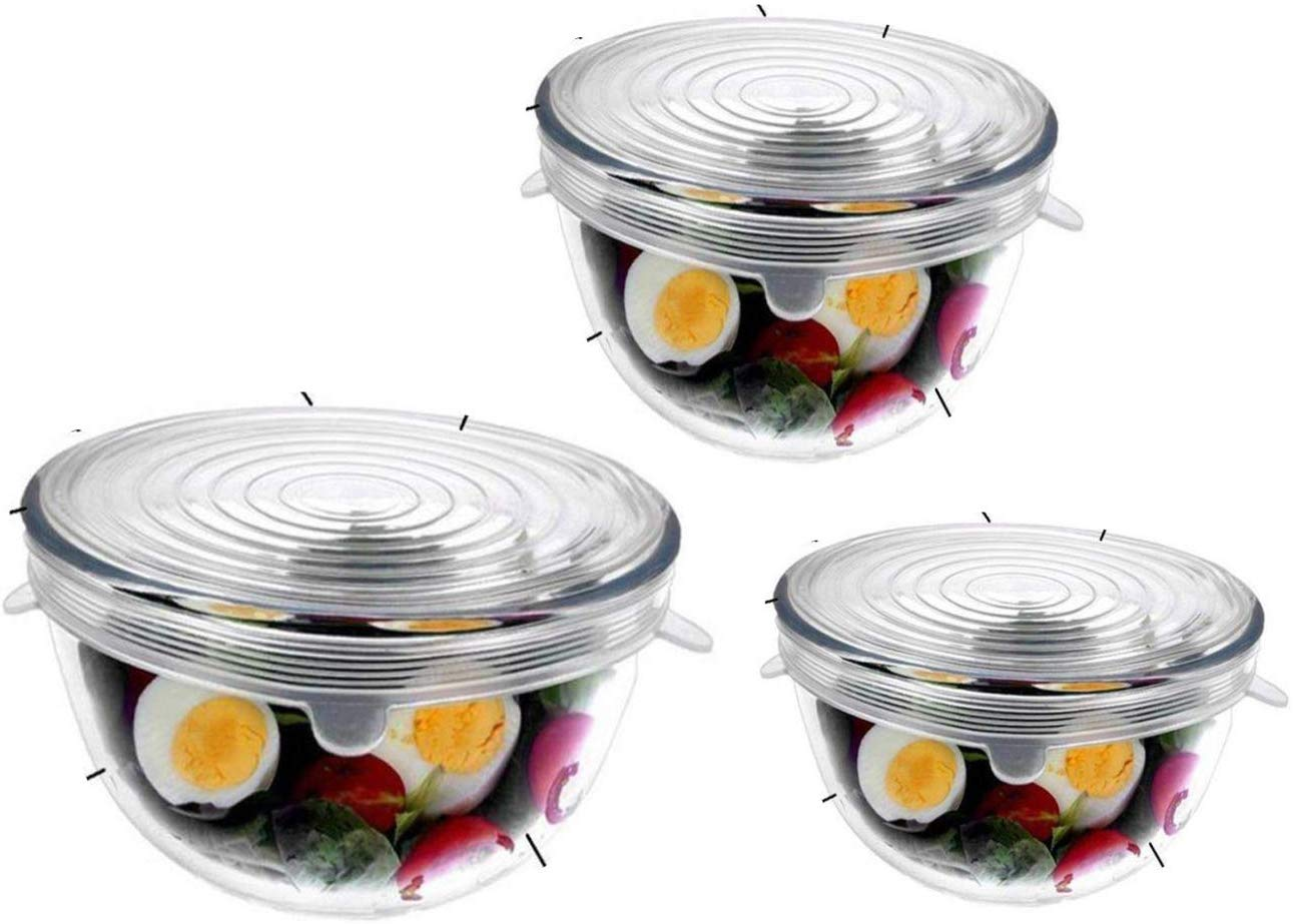 Borosilicate Glass Mixing Bowl with Lid - 400ML, 1650ML, 2100ML , Set of 3