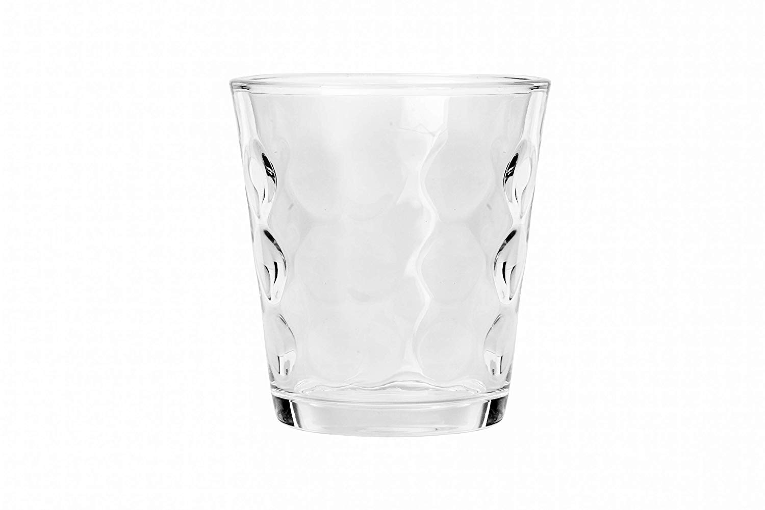 Femora Clear Glass Mirror Cut Water Tumbler - 300 ML, Set of 4