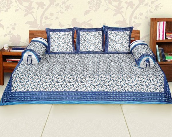 Femora Cotton Printed Diwan Set -Pack of 6