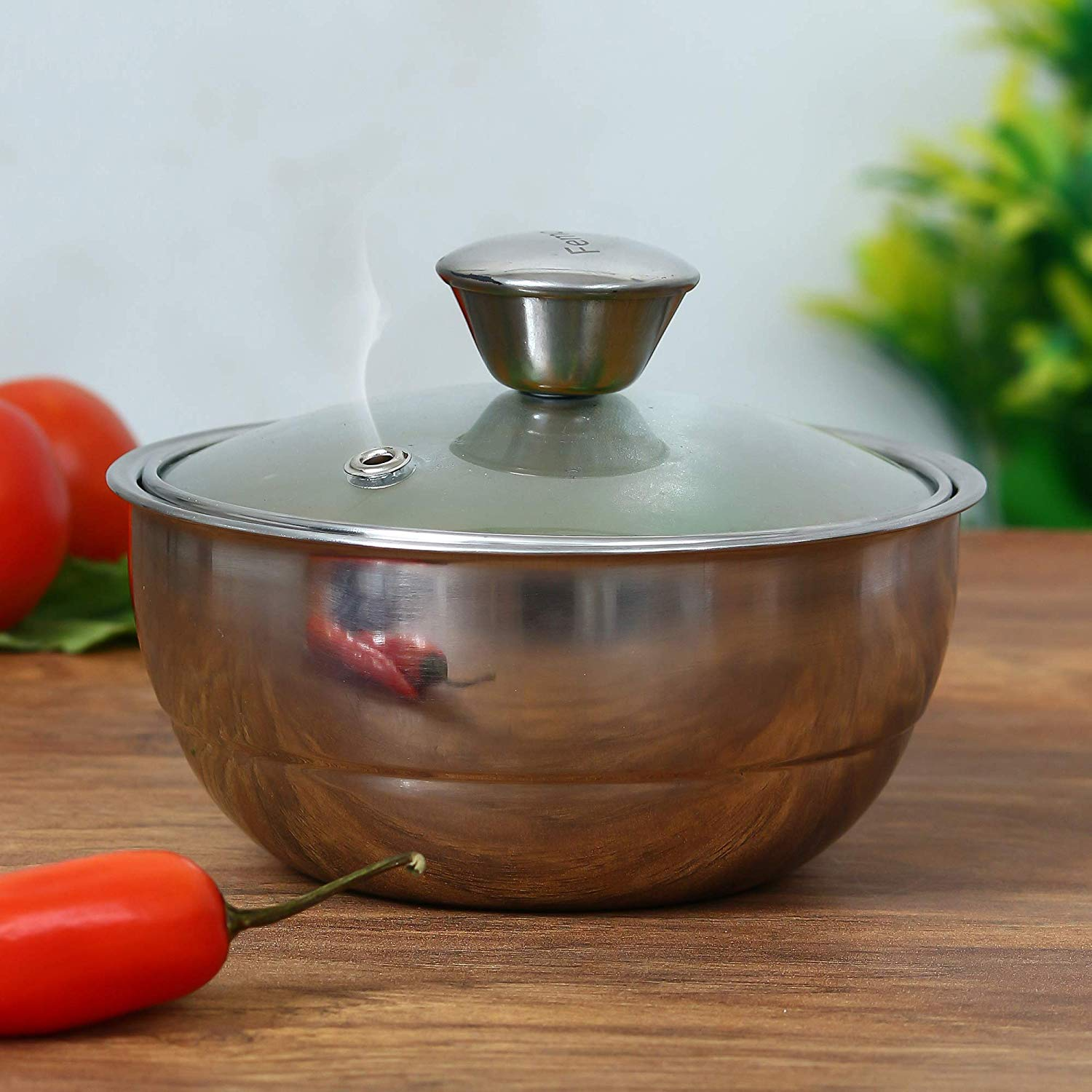Stainless Steel Curry Server Casserole - 500ml, 900ml, Set of 2