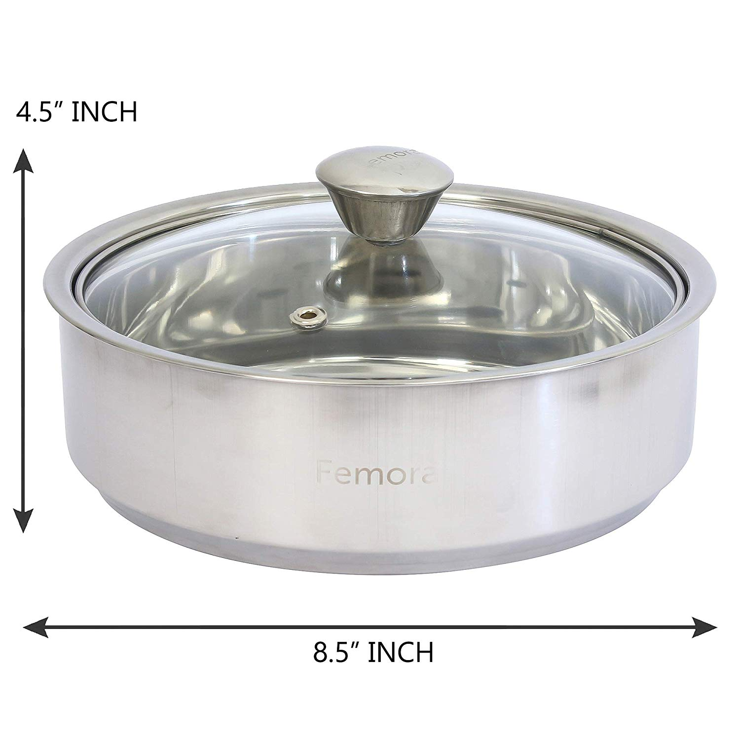 Stainless Steel Roti Server, 1.1 litres