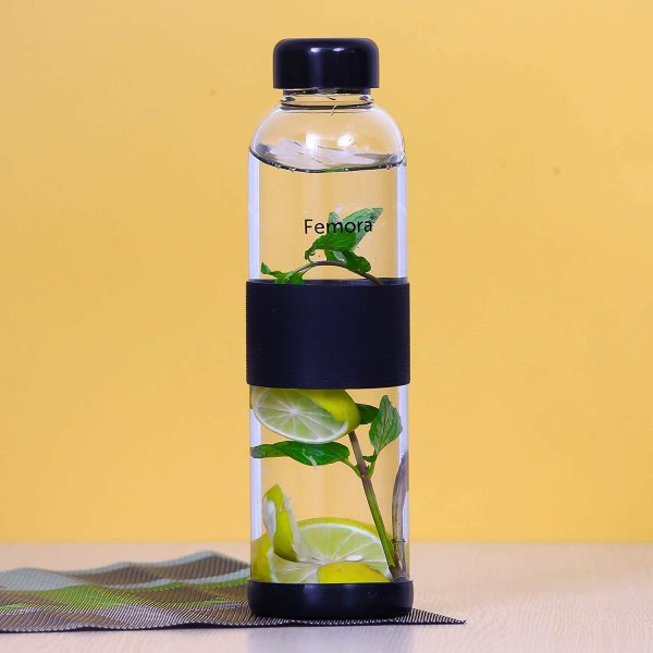 Borosilicate Glass  Water Bottle - 500 ML