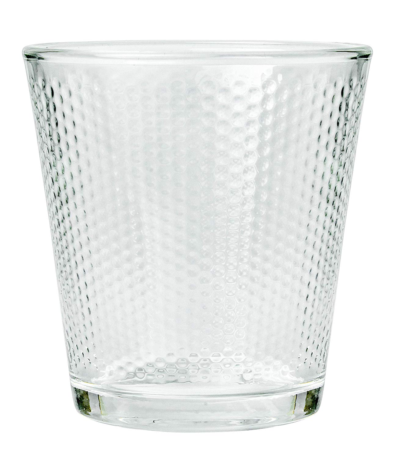 Femora Clear Glass Dome Water Tumbler - 300 ML, Set of 6