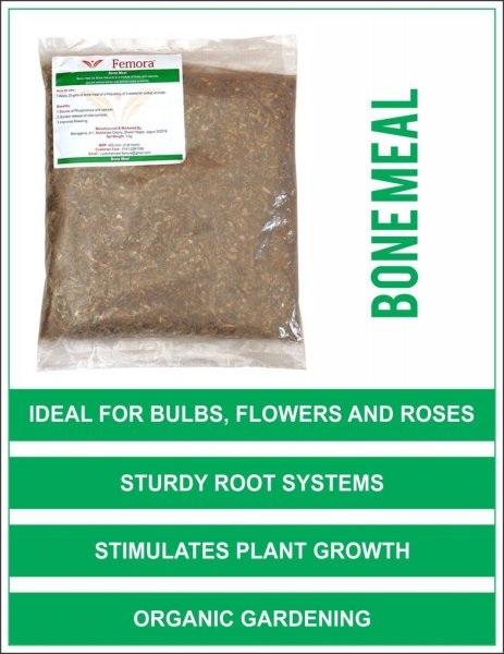 Femora Natural Bone Meal - 4 kg for Flowering & Kitchen Garden