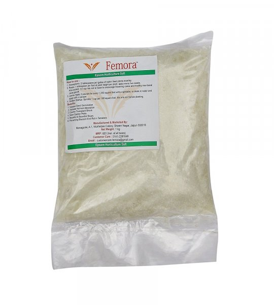 Femora Pure Epsom Salt for Horticultural/Aquarium Purposes - 1 KG
