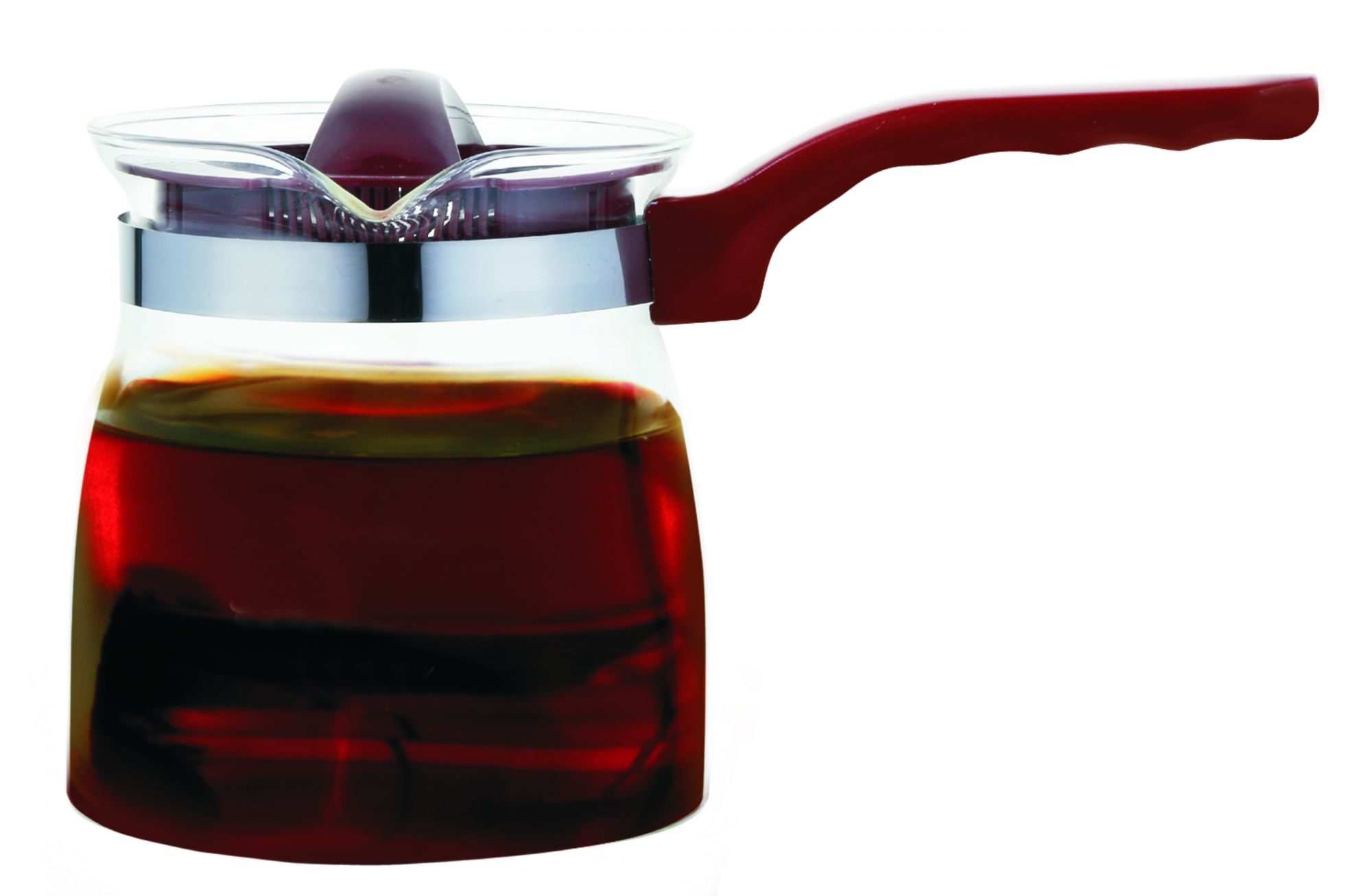 Femora Borosilicate Glass Flame Proof Tea Pot- 700 ML ( Serving 4 cup)