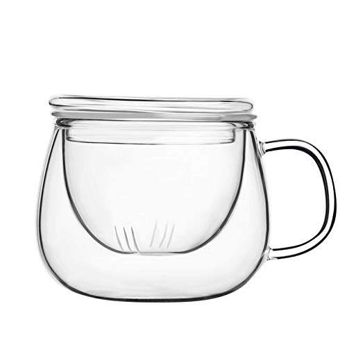 Borosilicate Glass Cup with Tea Coffee Infuser - 300 ML