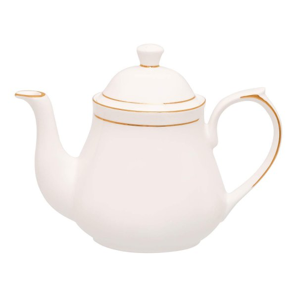 Bone China Gold Line Tea Kettle for Home - 1000 ML, 1pc, Serving for 5 Person