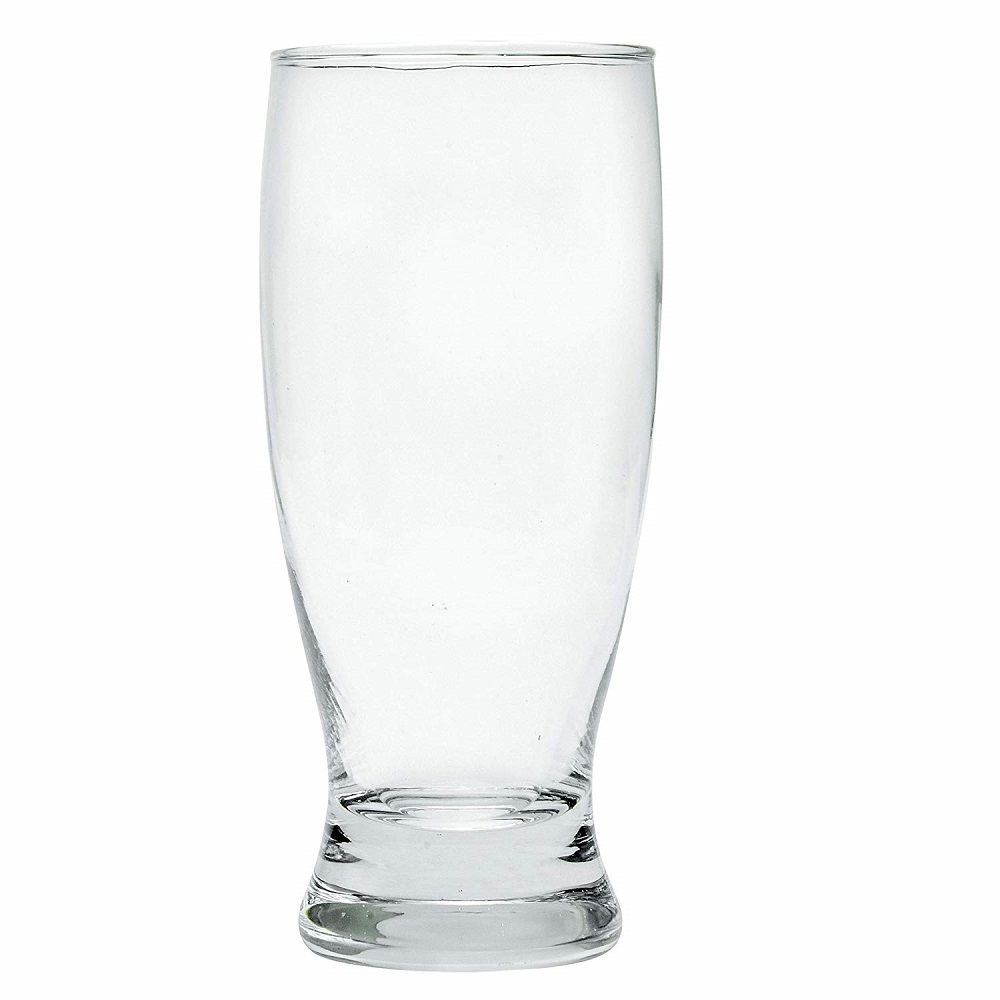 Clear Glass Chrome Tumbler - 300 ML, Set of 6