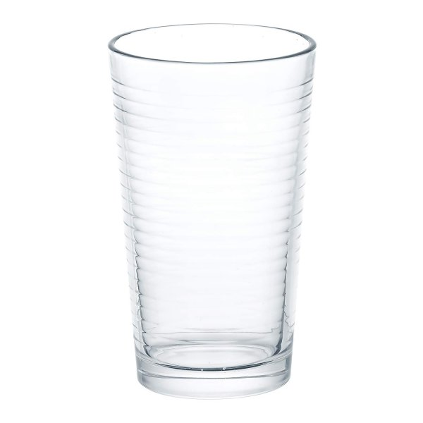 Femora Clear Glass High Ball Juice Glass for Daily Use- Set of 6