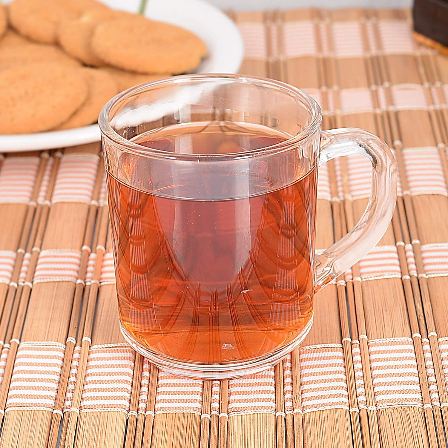 Indian Ceramic Clear Glass Nora Tea Cup 200 ml