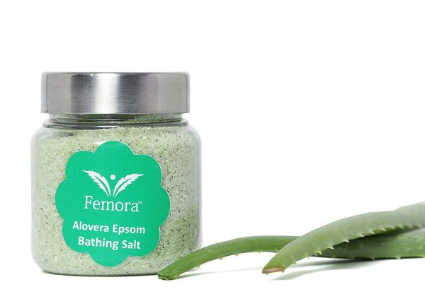 Femora Natural Aloe Vera Flavored Bathing Epsom Salt - 250 gms