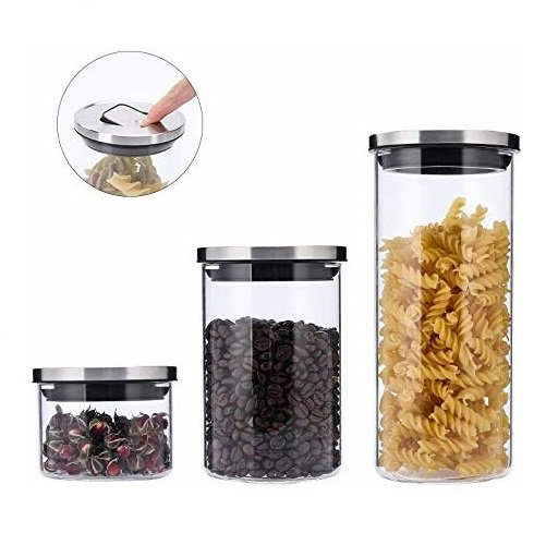 Borosilicate Glass Storage Jars - 300ML 750ML 1250ML