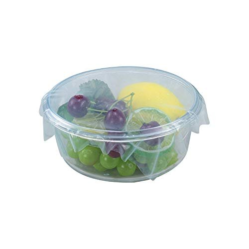 Femora Silicone Wrap Reusable Airtight Seal Storage Container Freezer Leak-Proof Cooking Covering Wraps Ziploc Bags - Blue