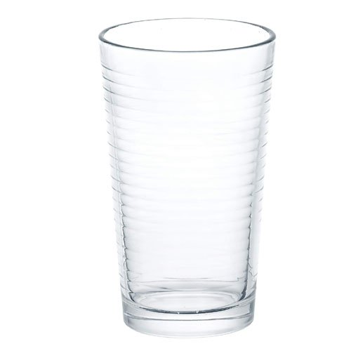 Femora Clear Glass High Ball Juice Glass for Daily Use- Set of 4