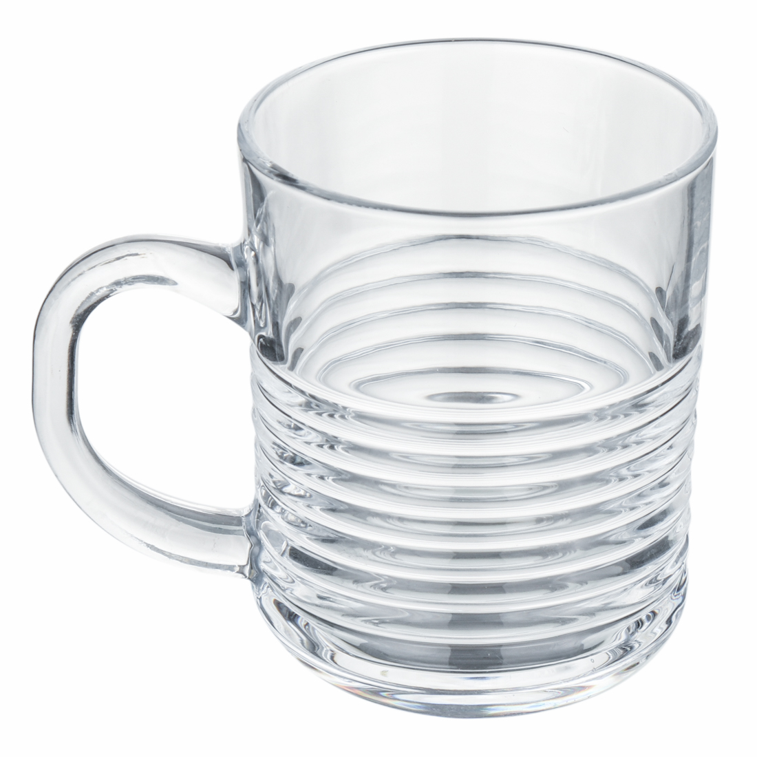 Femora Glass Ring Tea Mug Coffee Mug - Set of 6- 220 ML