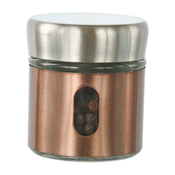 Clear Glass Steel Jar Storage - 30 ML