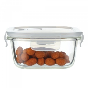 Borosilicate Glass Square Container With Air Vent Lid 800 Ml