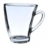 Femora Glass Clove Tea Mug Coffee Mug - Set of 6-210 ML