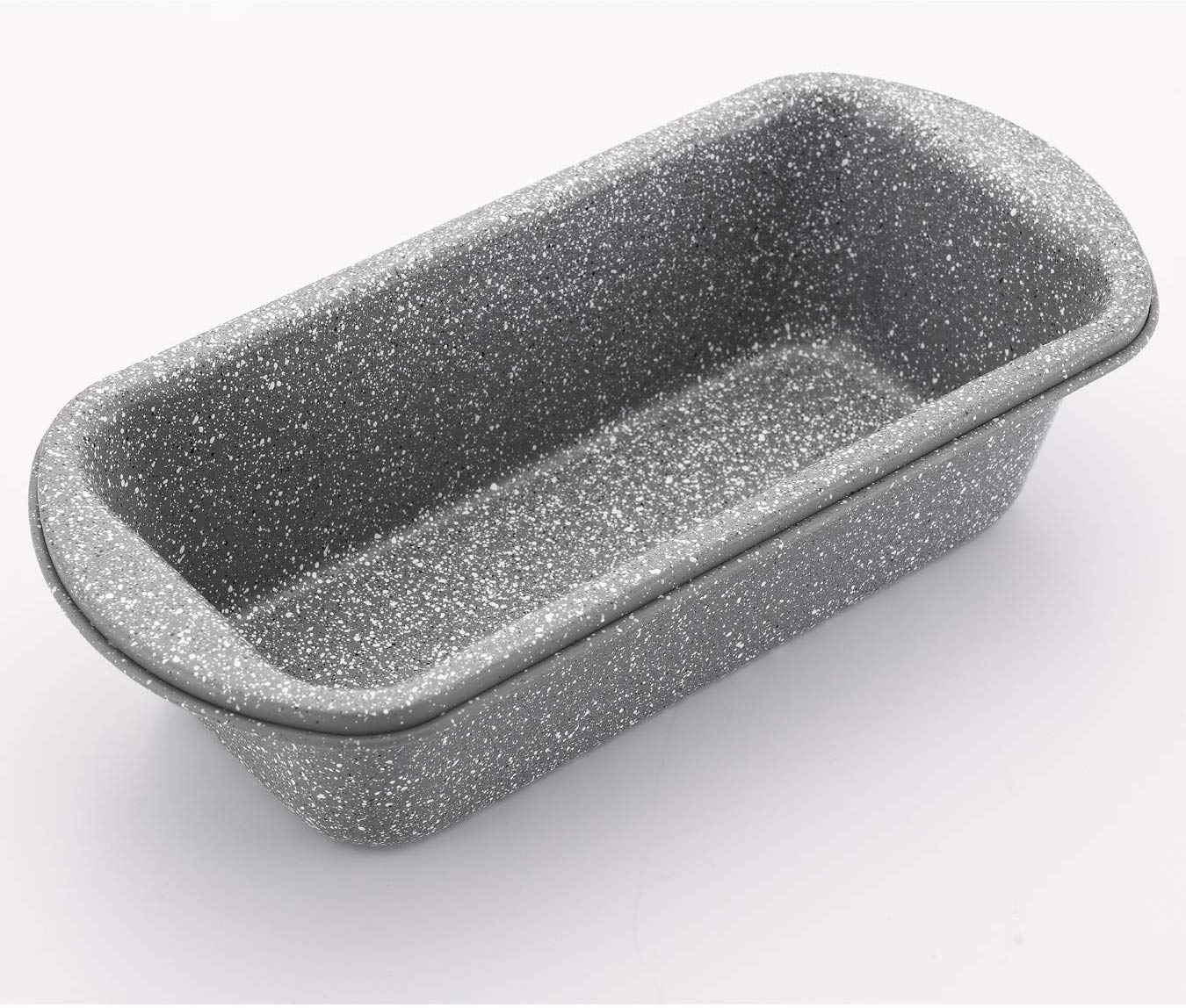 Femora Baking Carbon Steel Stone Ware Non-Stick Coated Baking Loaf Pan (Small) for Breads, Set of 2 (23x11.7x5.5 cm)