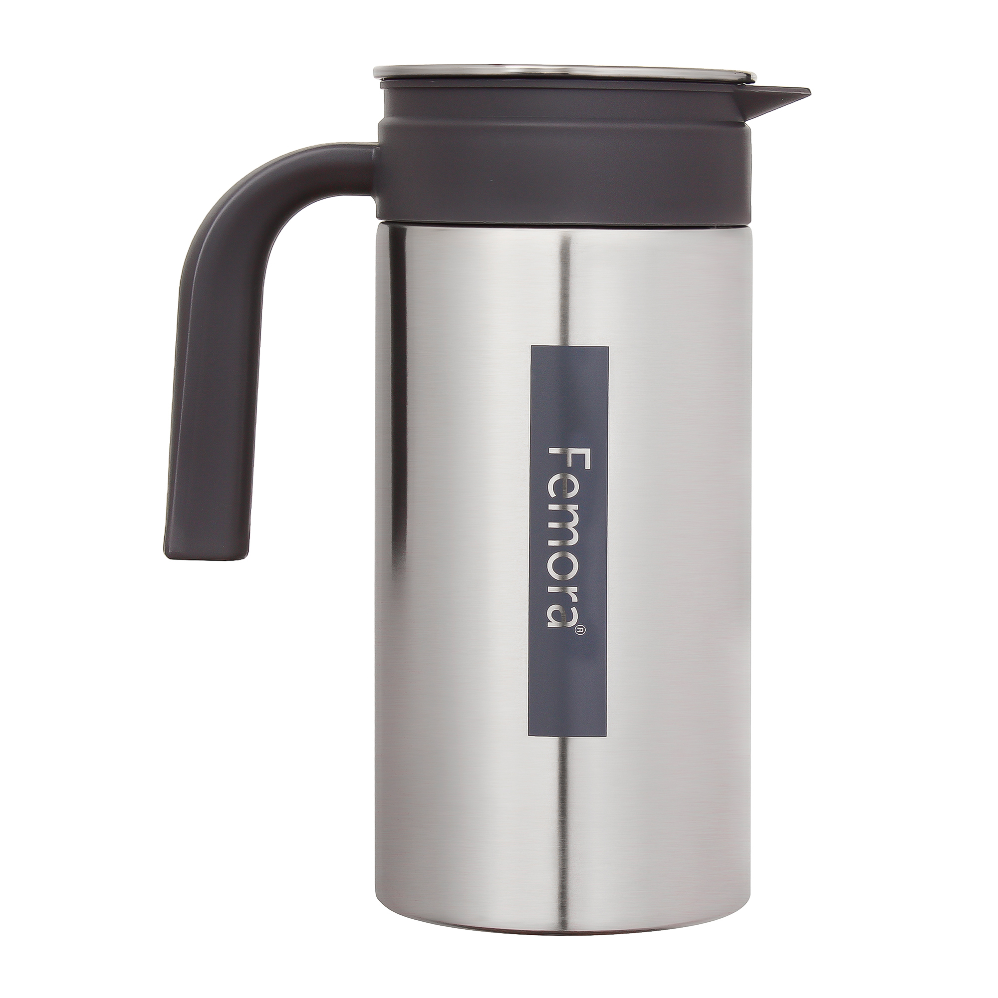 Stainless Steel Grand Jug with Handle - 1.4 L, Silver Black