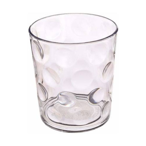 Femora Clear Glass Rome Water Tumbler - 240 ML, Set of 4