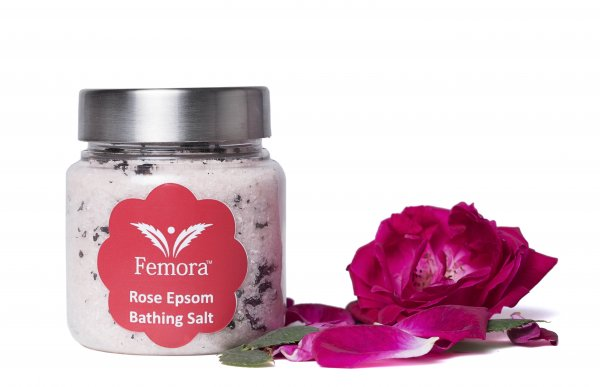 Femora Natural Rose Flavored Bathing Epsom Salt - 500 gms