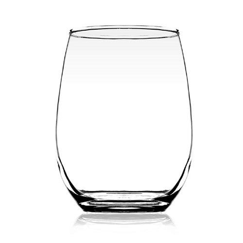 Femora Clear Glass Scotch Water Juice Tumbler - 320 ML, Set of 6